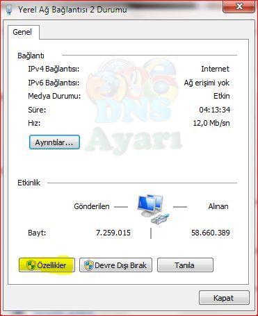 Windows 7 DNS Değiştirme (2)