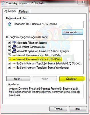 Windows 7 DNS Değiştirme (3)