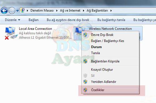 Windows 8 DNS Ayarları (3)